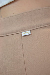 "BIG E TAN LEVI TROUSERS - 26"" WAIST"