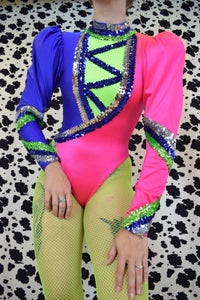 80s CLOWN CORE BODYSUIT - XS/SMALL