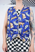 80s GANGZ ALL HERE CAT VEST - MEDIUM
