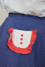"50s POLKADOT CIRCLE SKIRT - 24"" WAIST"
