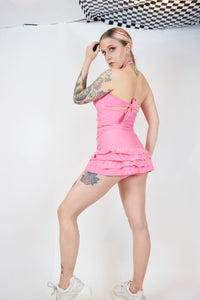 BARBIE PINK PIN UP SWIMSUIT - S/M