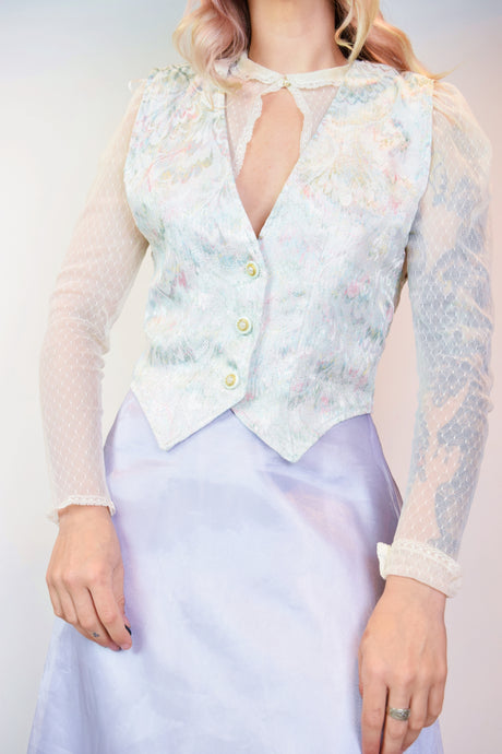 90s PASTEL IRIDESCENT VEST - MEDIUM