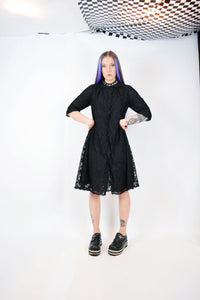 60s LACE GOTH MOO MOO - MEDIUM