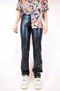 Y2K VEGAN LEATHER FLARES - 2