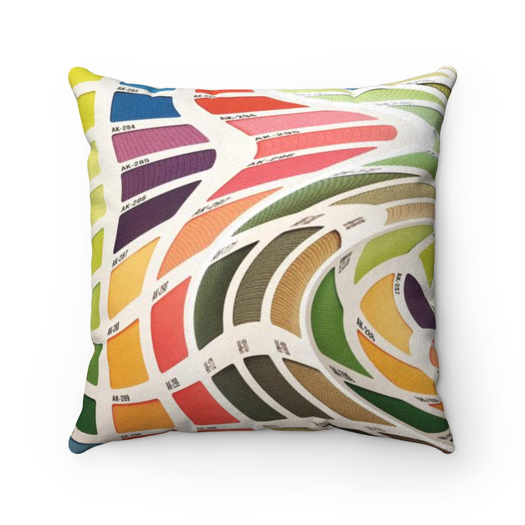 Color Range With A Twist Faux Suede Square Pillow