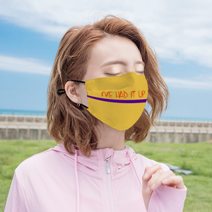 I'VE HAD IT - Yellow Customizable Face Cover with Filter Element for Adults
