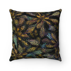 Desert Bloom Faux Suede Square Pillow