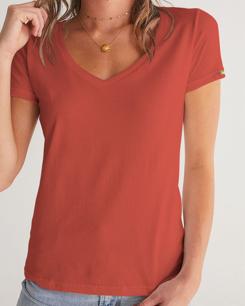 Signature Lucky Lime Paprika Women's V-Neck Tee