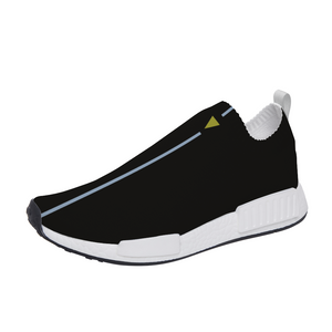 Split Black Unisex Slip On Walking Shoes Lightweight Sneakers from Vluxe by Lucky Nahum