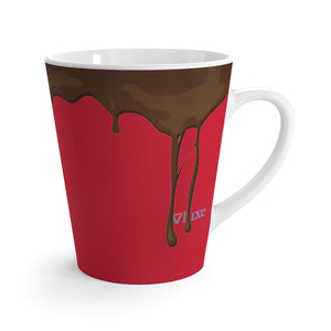 Dripped Scarlet Red Latte Mug from Vluxe by Lucky Nahum