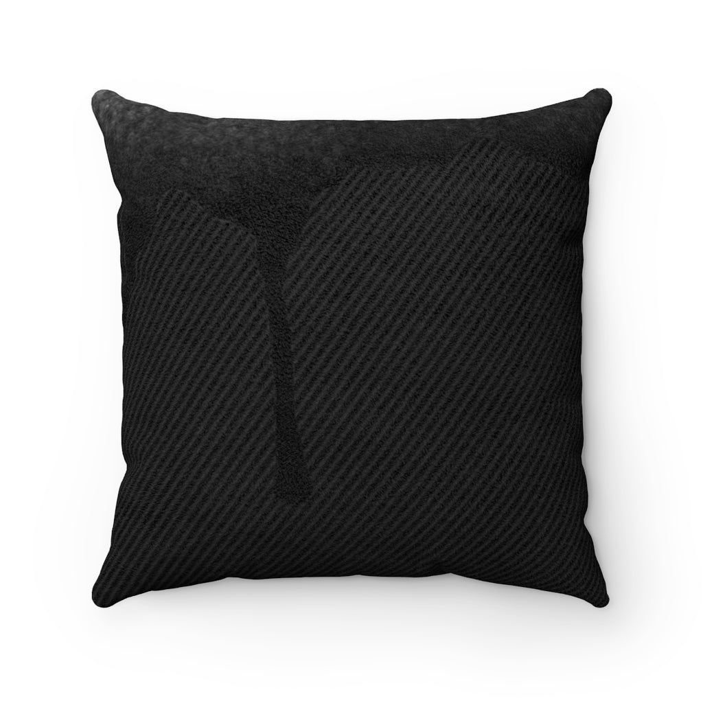 Dripped Night Faux Suede Square Pillow from Vluxe by Lucky Nahum