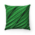 Cable Esmerald Faux Suede Square Pillow