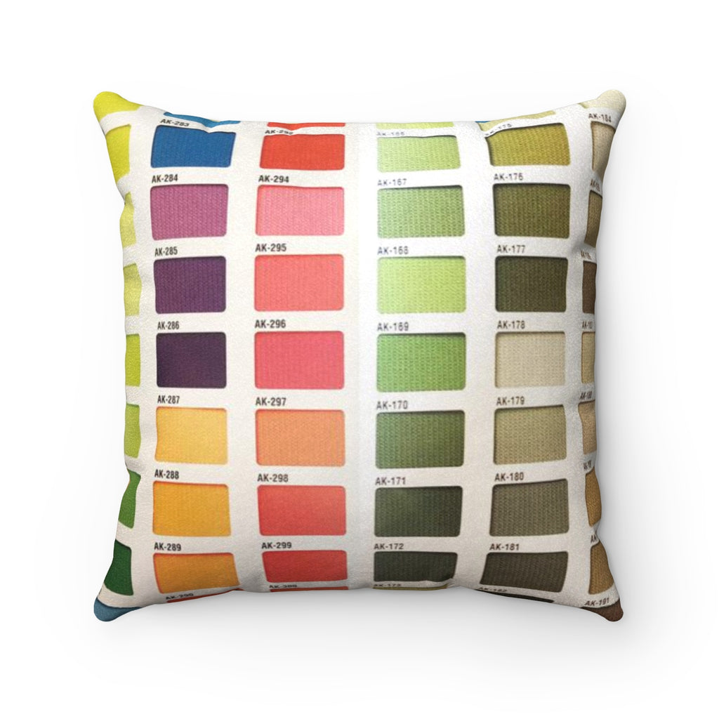 Color Range Faux Suede Square Pillow