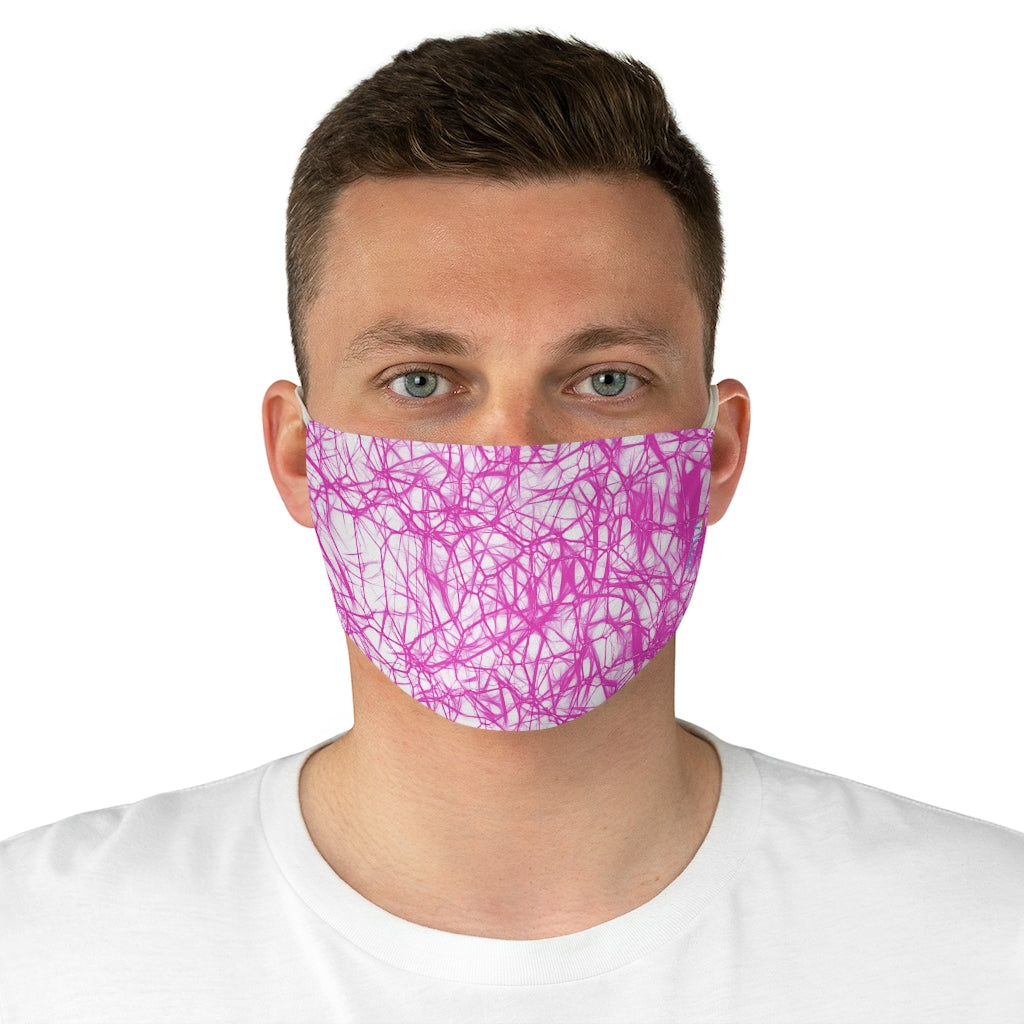Wired Pink Double Layered Fabric Face Mask