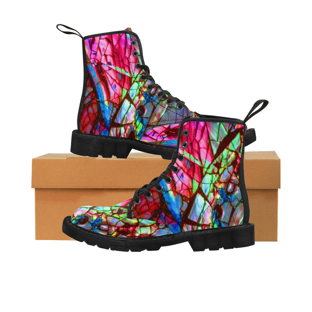 Stain Glass Men's Vluxe Canvas Boots