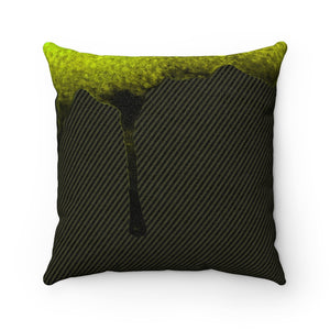 Dripped Moss Faux Suede Square Pillow from Vluxe by Lucky Nahum