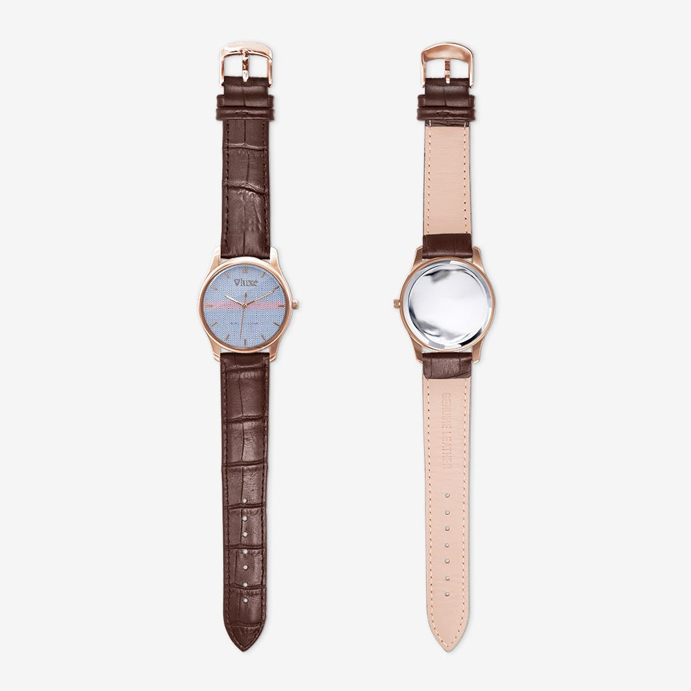 Bone Blue Classic Fashion Unisex Print Black Quartz Watch