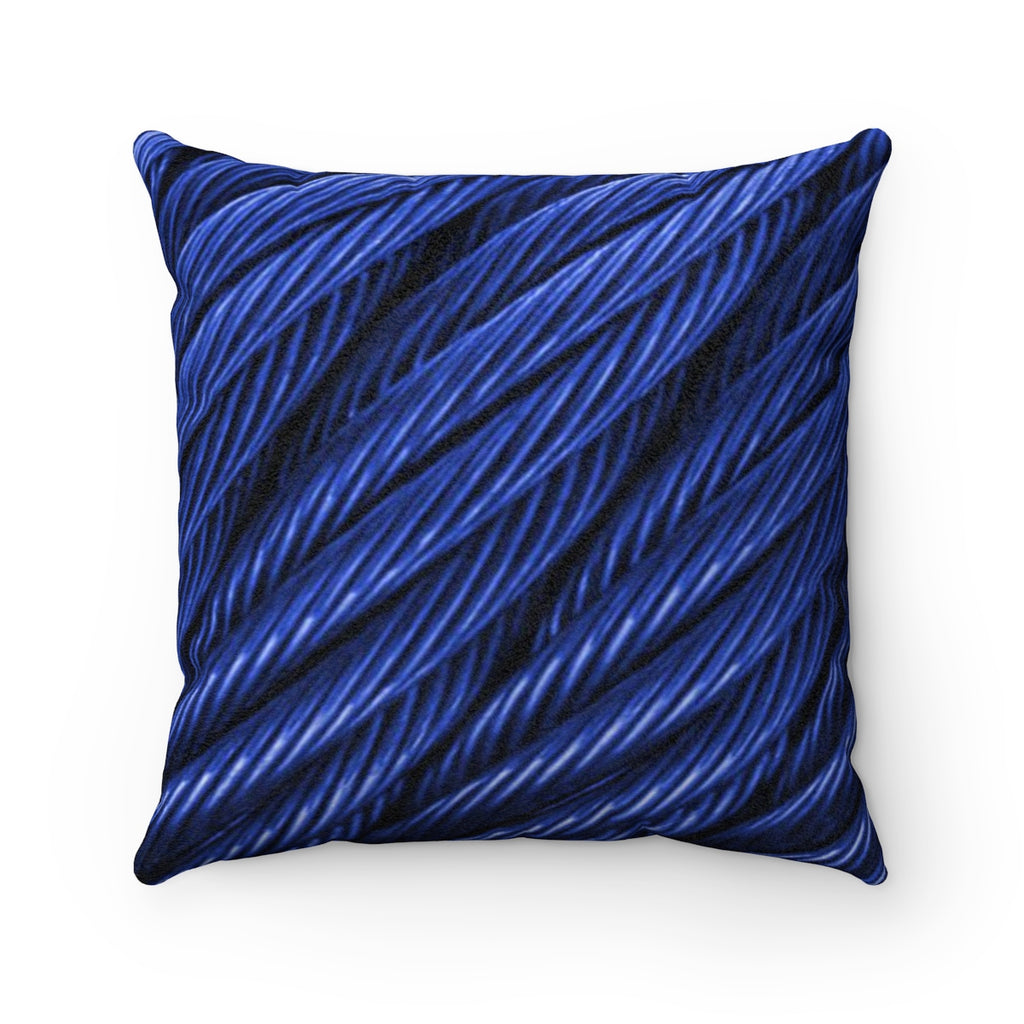 Cable Sea Faux Suede Square Pillow