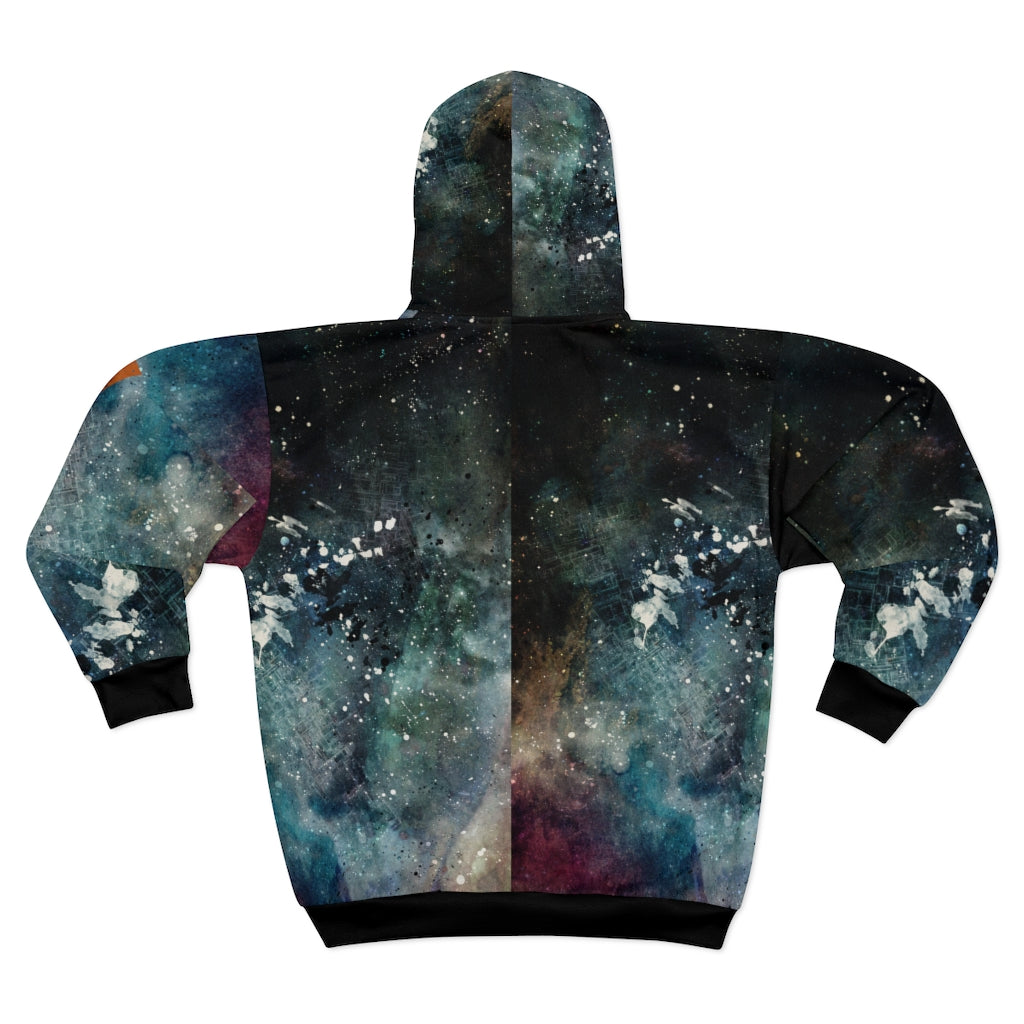 Corrosion AOP Unisex Zip Hoodie from Vluxe by Lucky Nahum