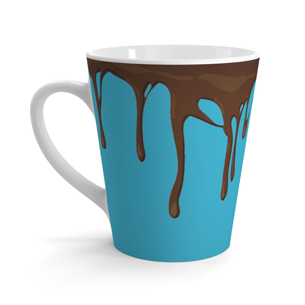 Dripped Bahama Blue Latte Mug from Vluxe by Lucky Nahum