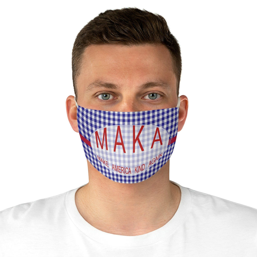 Make America Kind Again Check Double Layer Fabric Face Mask from Vluxe by Lucky Nahum