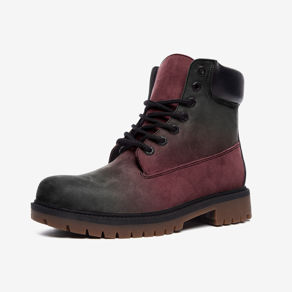 Killer Red Casual Leather Lightweight Boots from Vluxe by Lucky Nahum