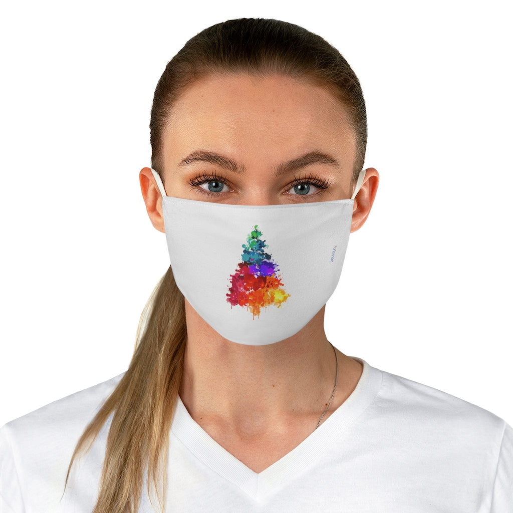 Christmas Tree White Double Layer Fabric Face Mask from Vluxe by Lucky Nahum