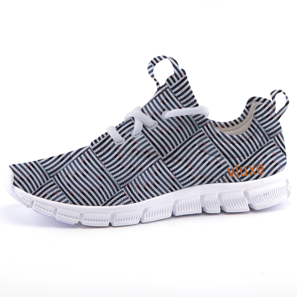 CHECKERED STRIPE Lightweight fashion sneakers casual sports shoes