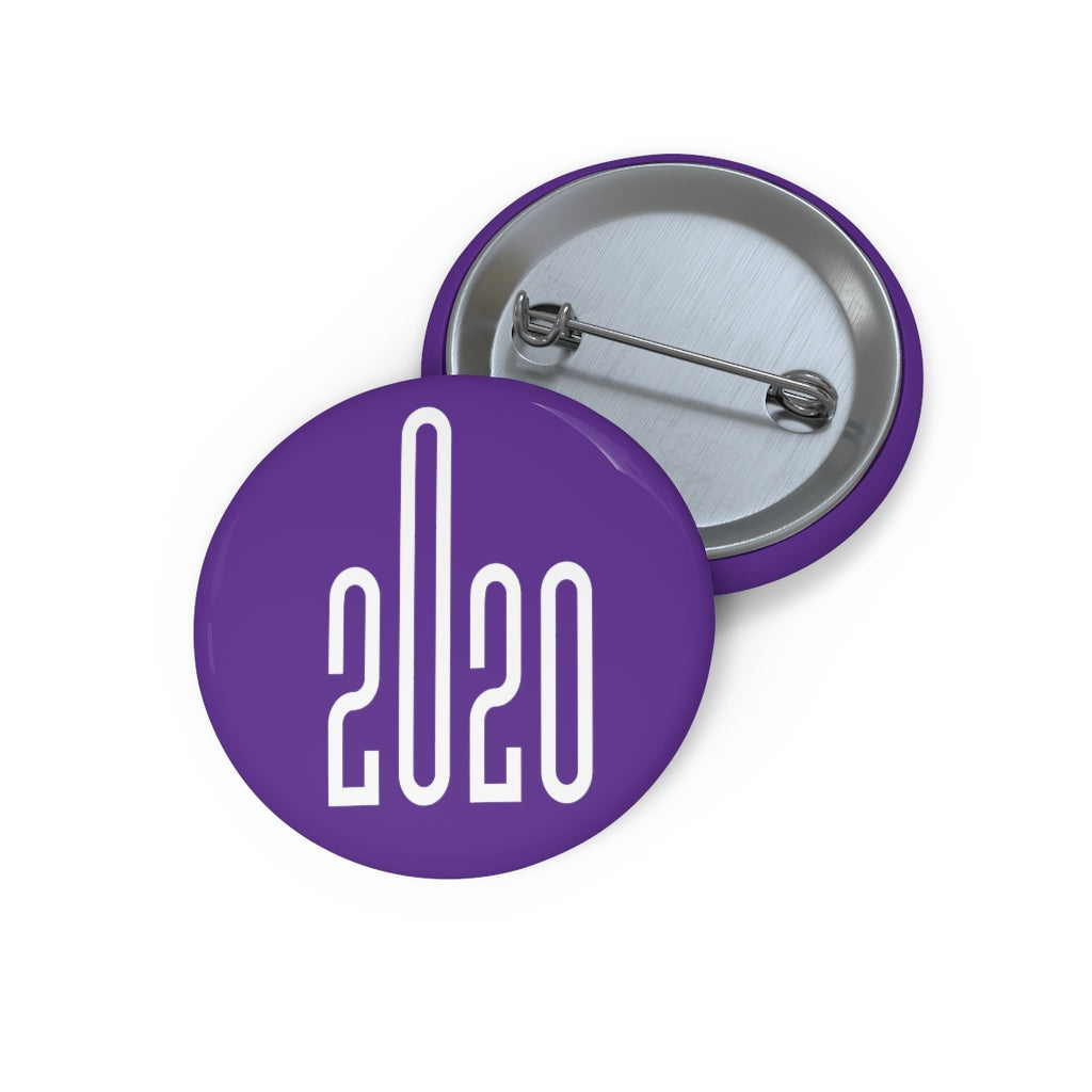 Year 2020 Purple Custom Pin Buttons