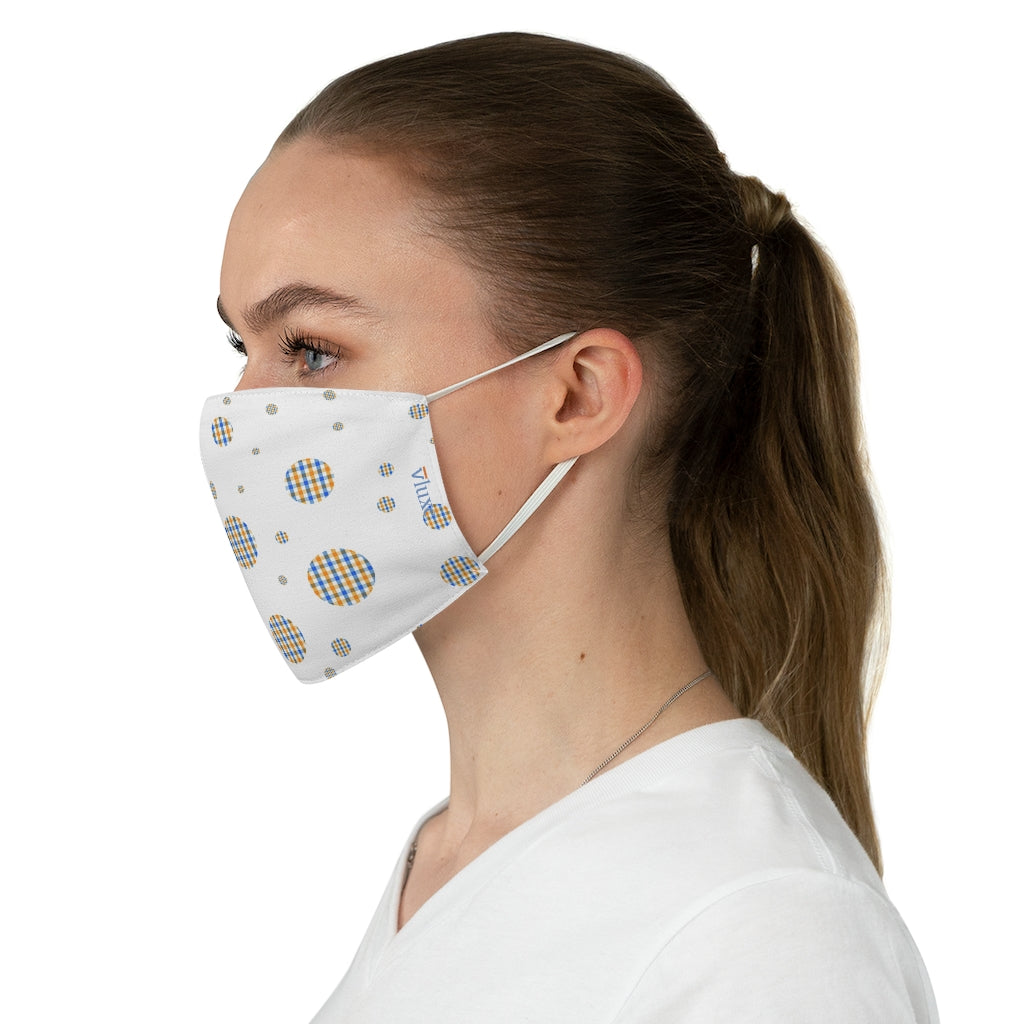 Checkered Planet Double Layer Fabric Face Mask