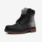 Killer Black Casual Leather Lightweight Boots from Vluxe by Lucky Nahum