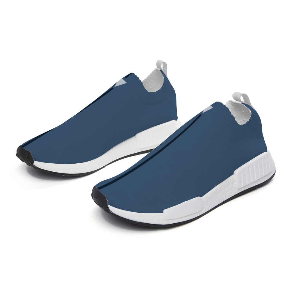 Split Blue Unisex Slip On Walking Shoes Lightweight Sneakers from Vluxe by Lucky Nahum