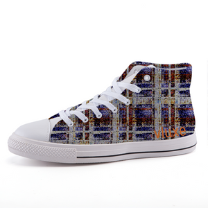 SHOREDITCH LONDON High-top fashion canvas sneakers