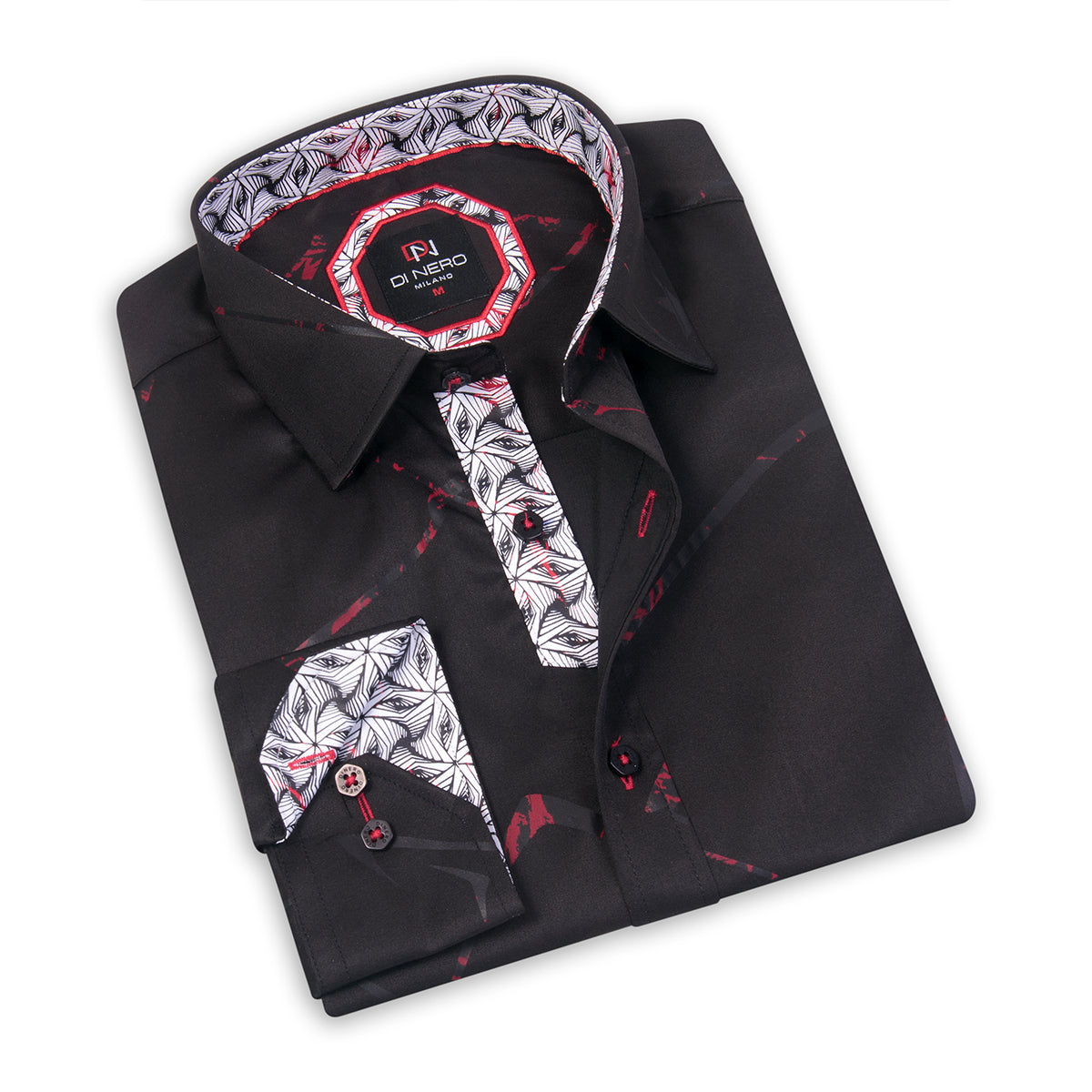Cryptic Black DiNero Printed Shirt