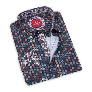 Pinwheel Multi DiNero Red Printed Shirt