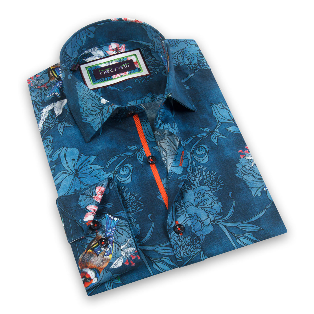 Juan Platinum Long Sleeve Overprint Shirt