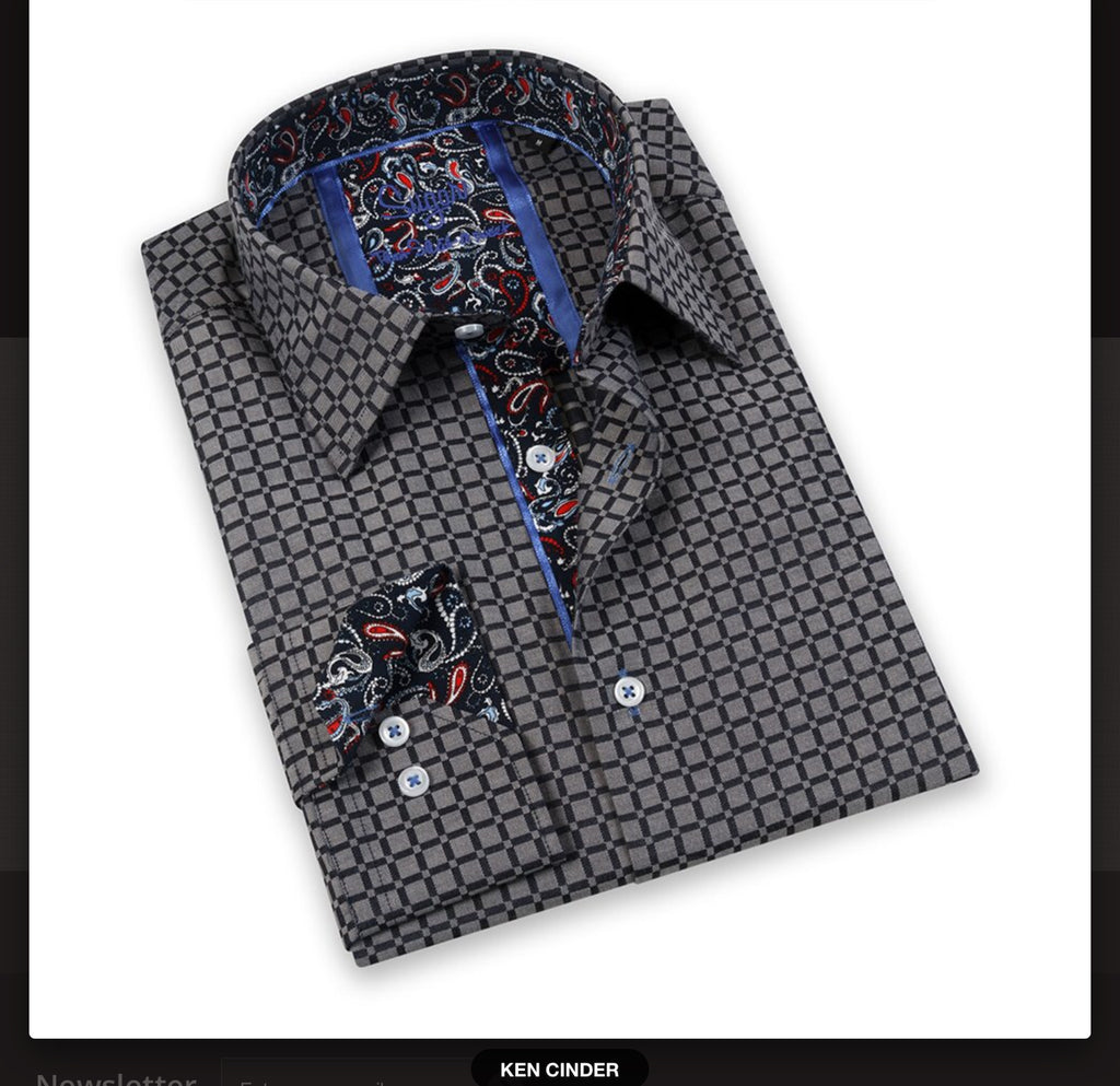 KEN CINDER PRINTED BUTTON UP SHIRT