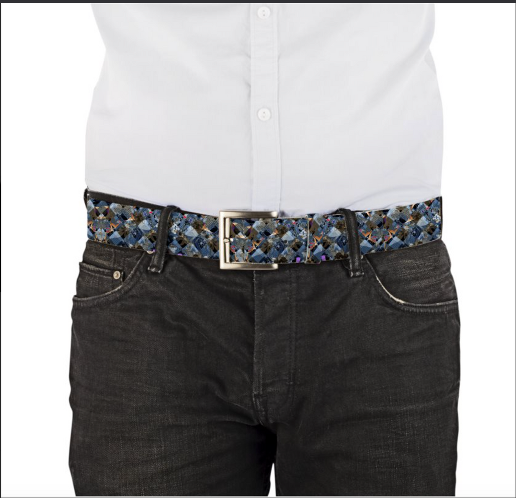 Simon VLB101 Leather Printed Belt
