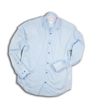Long Sleeve Blocked Mixed Media Shirt VL706