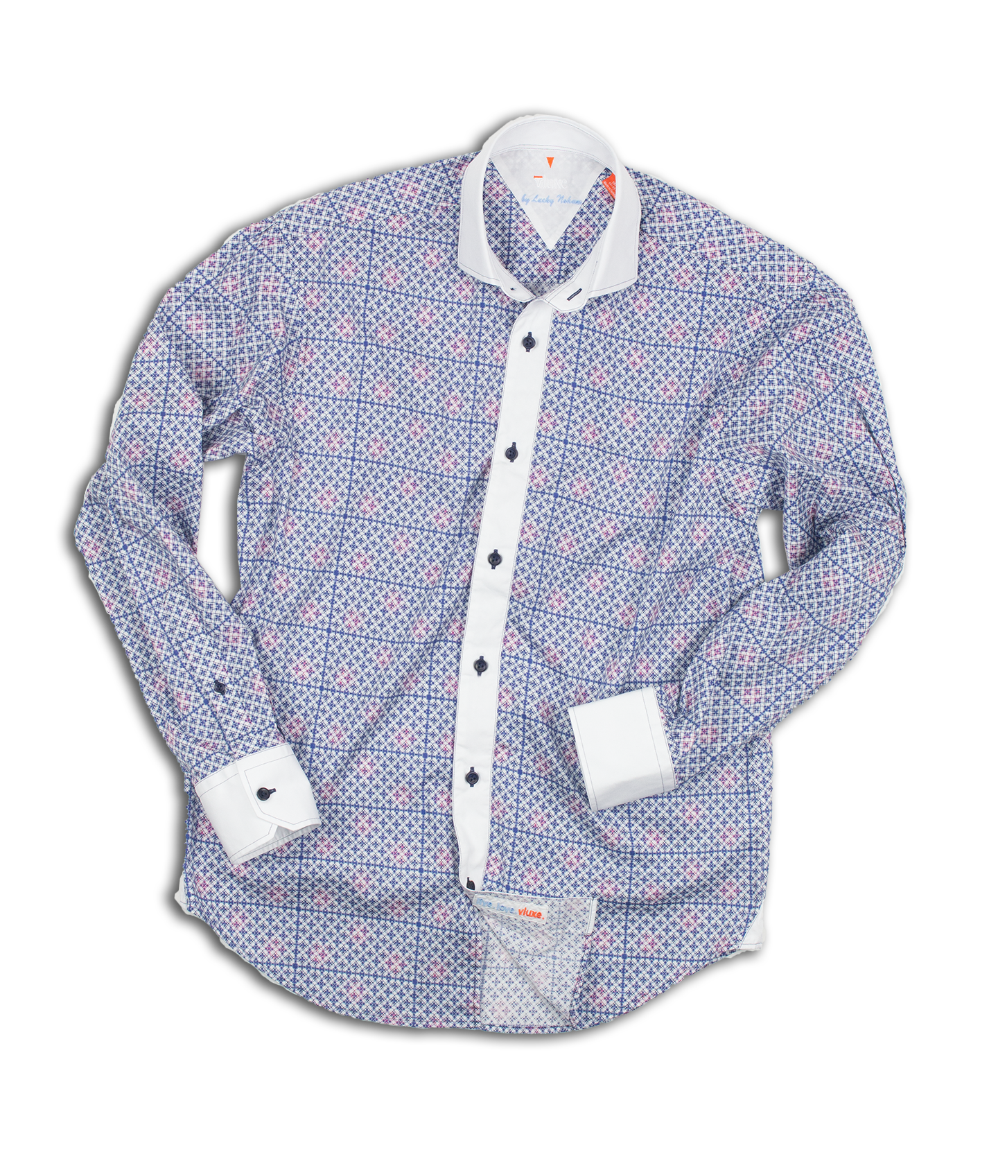 Contrast Mixed Media Shirt V L722