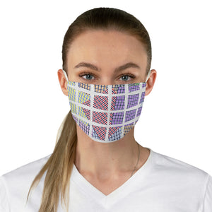 Framed Patches Double Layer Fabric Face Mask