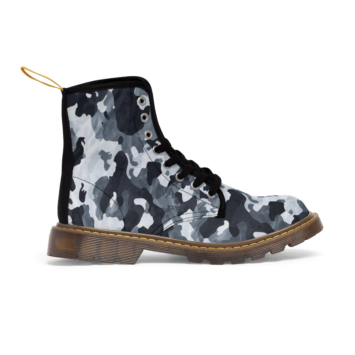 Camo Black Men's Canvas Boots