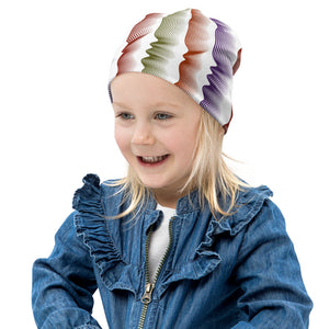 Squiggles White All-Over Print Kids Beanie from Vluxe by Lucky Nahum