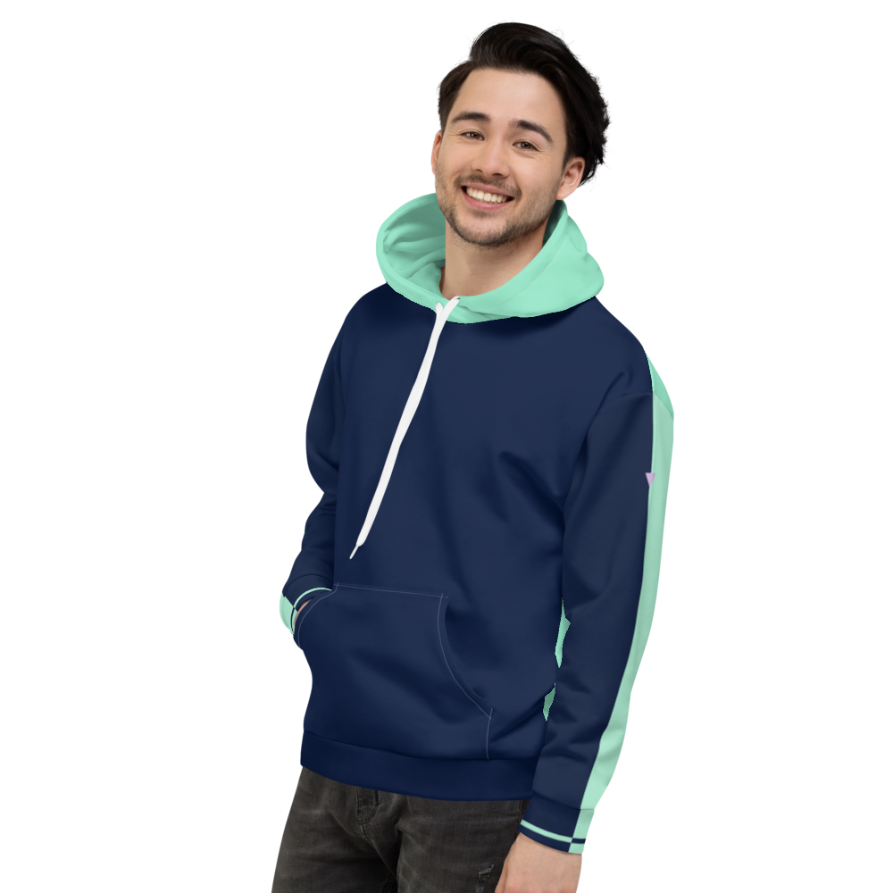 Split Navy Unisex Hoodie from Vluxe by Lucky Nahum
