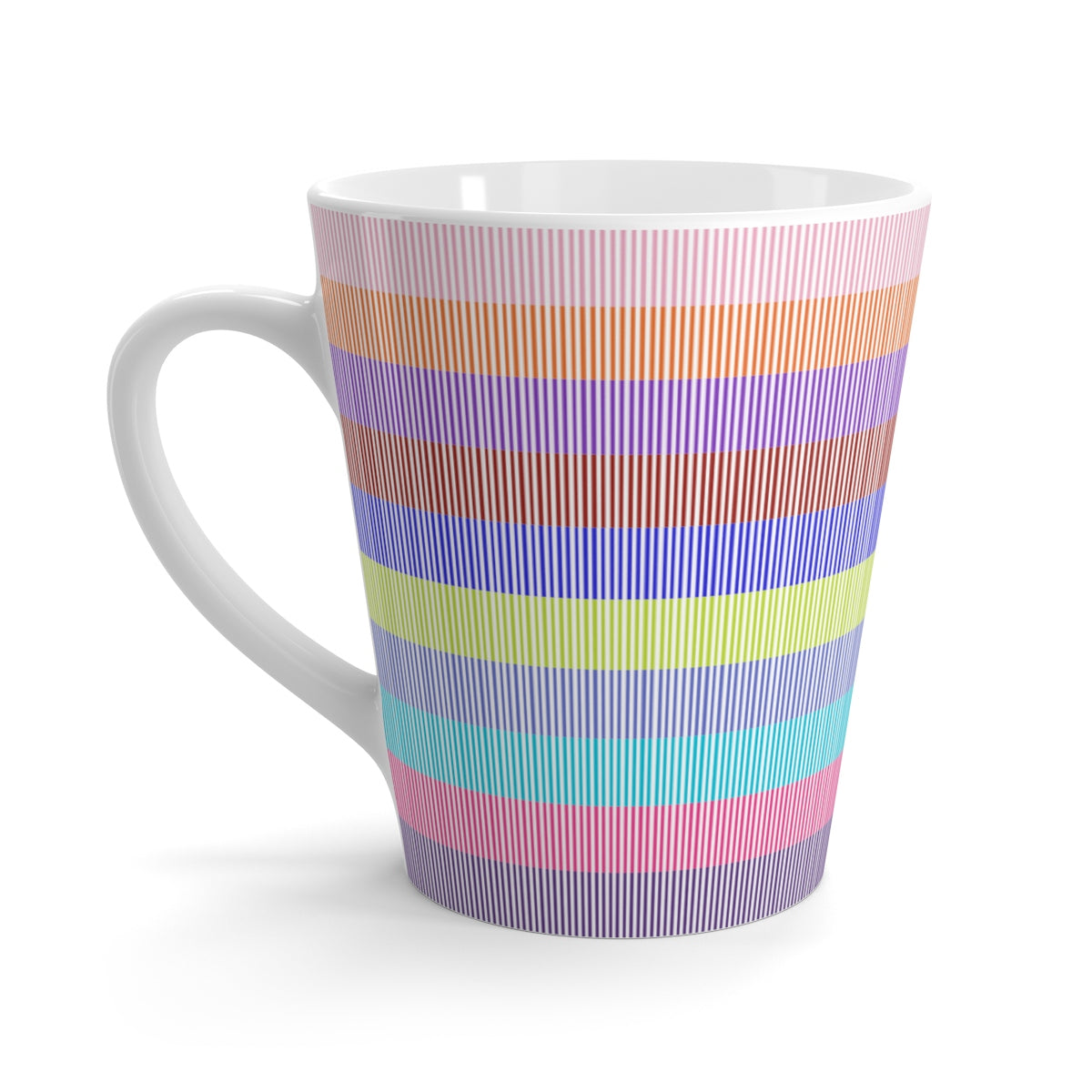 Stripe Of Many Colors Latte Mug