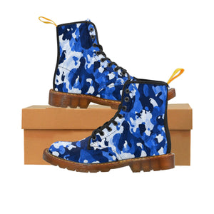 Camo Blue Men's Canvas Boots