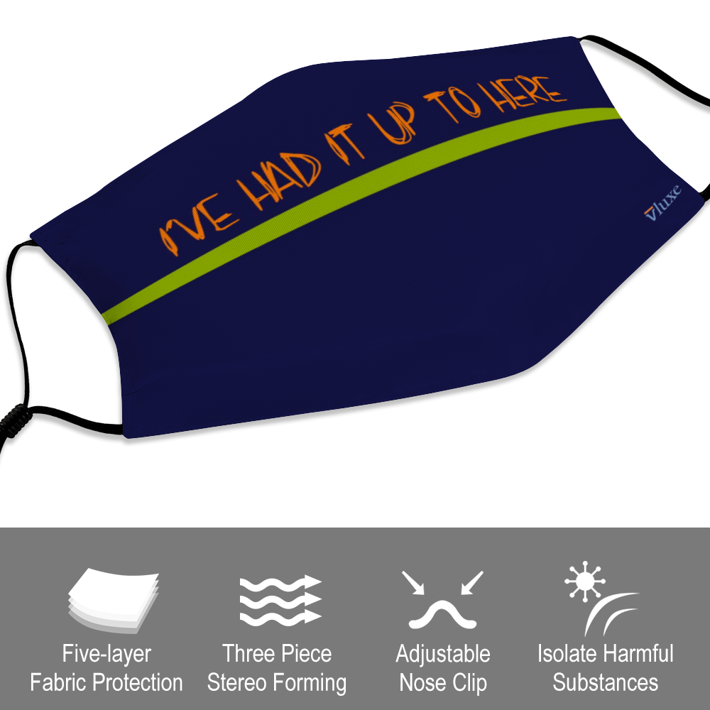 I'VE HAD IT - Navy Face Cover with Filter Element for Adults