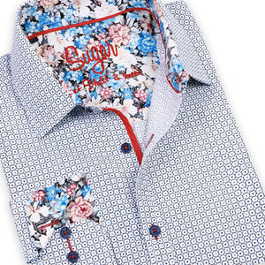 Bennett White Sugar Short Sleeve Printer Shirt