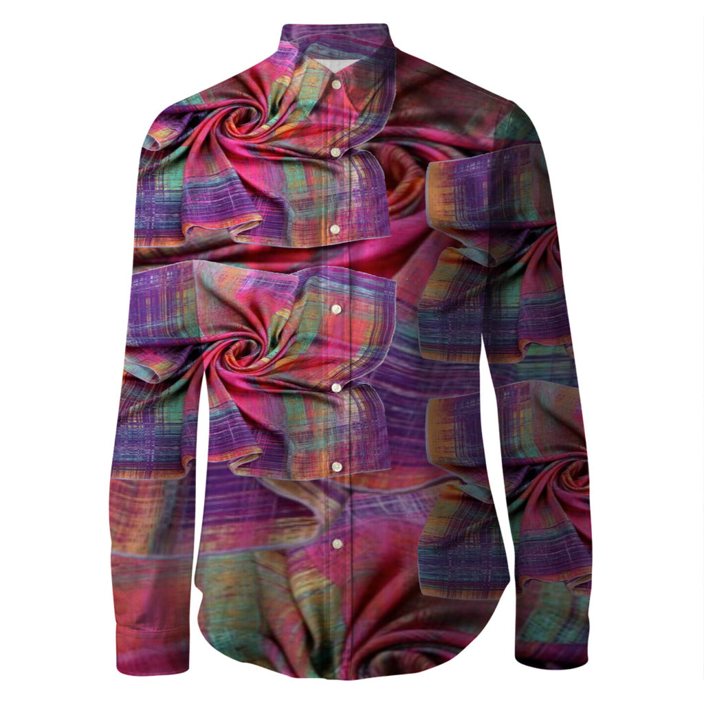 Vluxe by Lucky Nahum Twisted Hanky Panky Printed Unisex Button Up Shirt