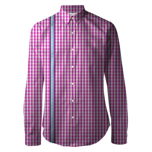 Rose Racer Check Unisex Printed Shirt